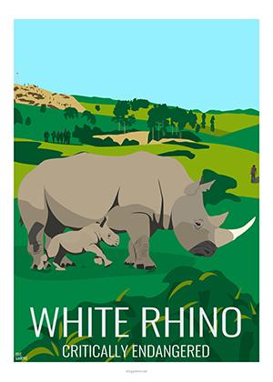 Eric Garence artiste Niçois rhino espece en danger wild greenpeace