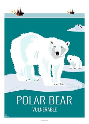 Eric Garence artiste Niçois ours polaire bear banquise schiste gaz serre green peace