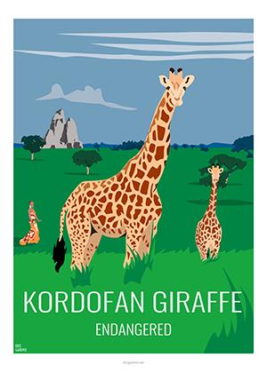Eric Garence artiste Niçois kordofan giraffe espece protégé zoo vincennes